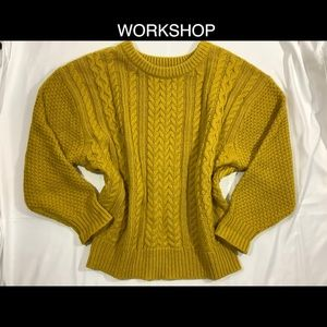 WORKSHOP S Mustard Chunky Sweater